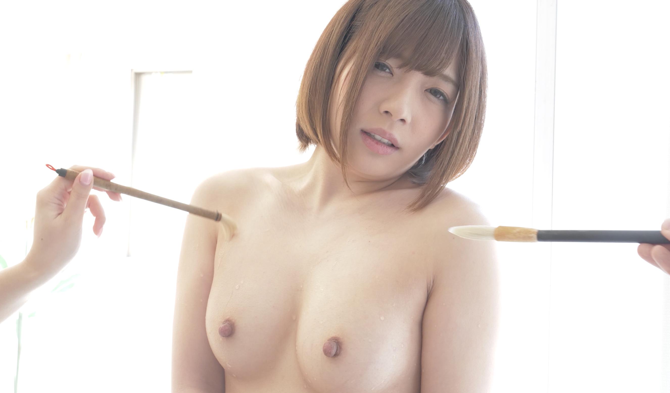 超可愛い人気女優 麻里梨夏チャンを濡れた筆でいじくりマッサージしました!!